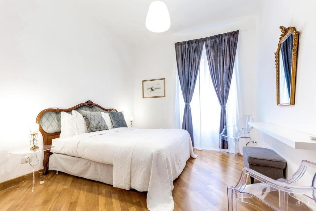 Ein Bett oder Betten in einem Zimmer der Unterkunft Charming 6 guests flat 10 minutes from Vatican
