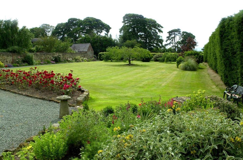 A garden outside Hordley Hall