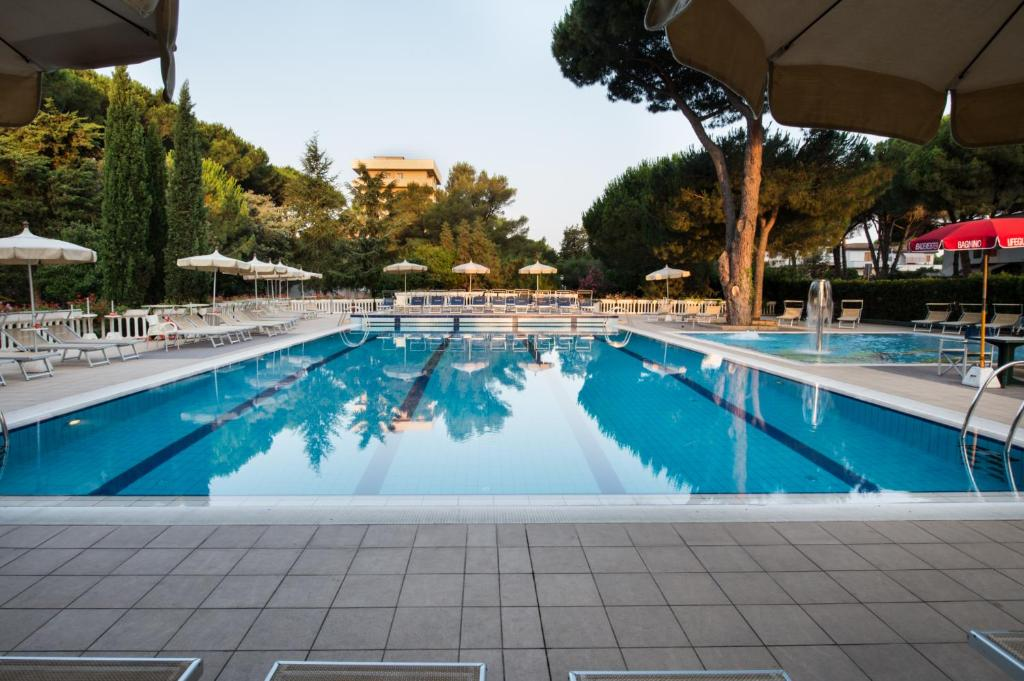 The swimming pool at or near Park Hotel Marinetta