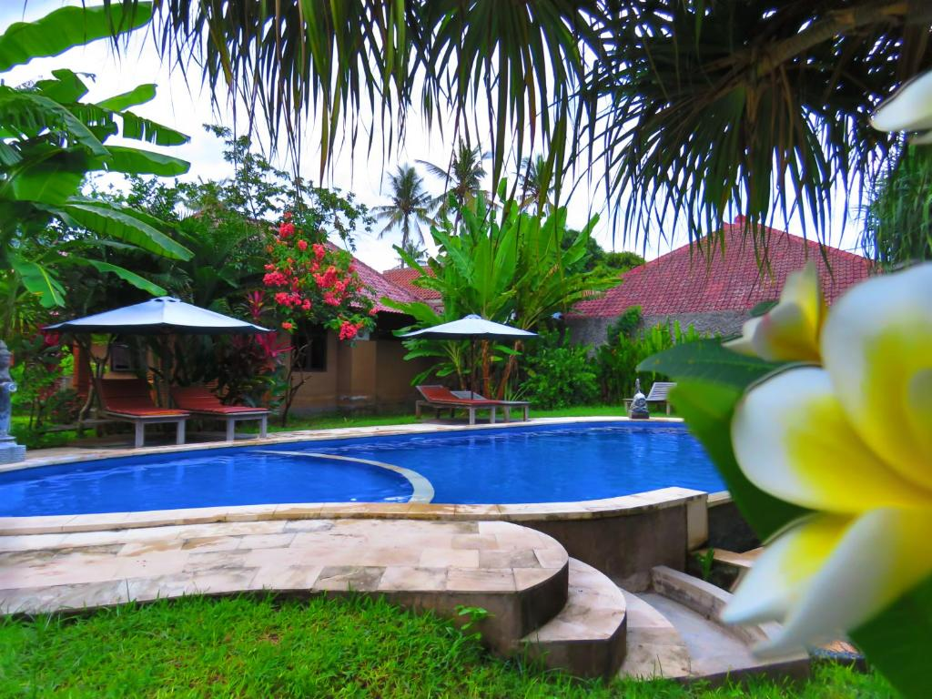 The swimming pool at or near Suka Sari Cottages