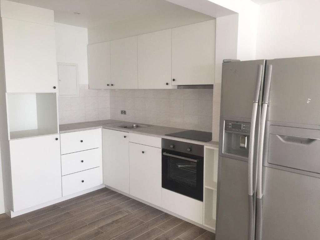 Een keuken of kitchenette bij Apartment Havenzicht