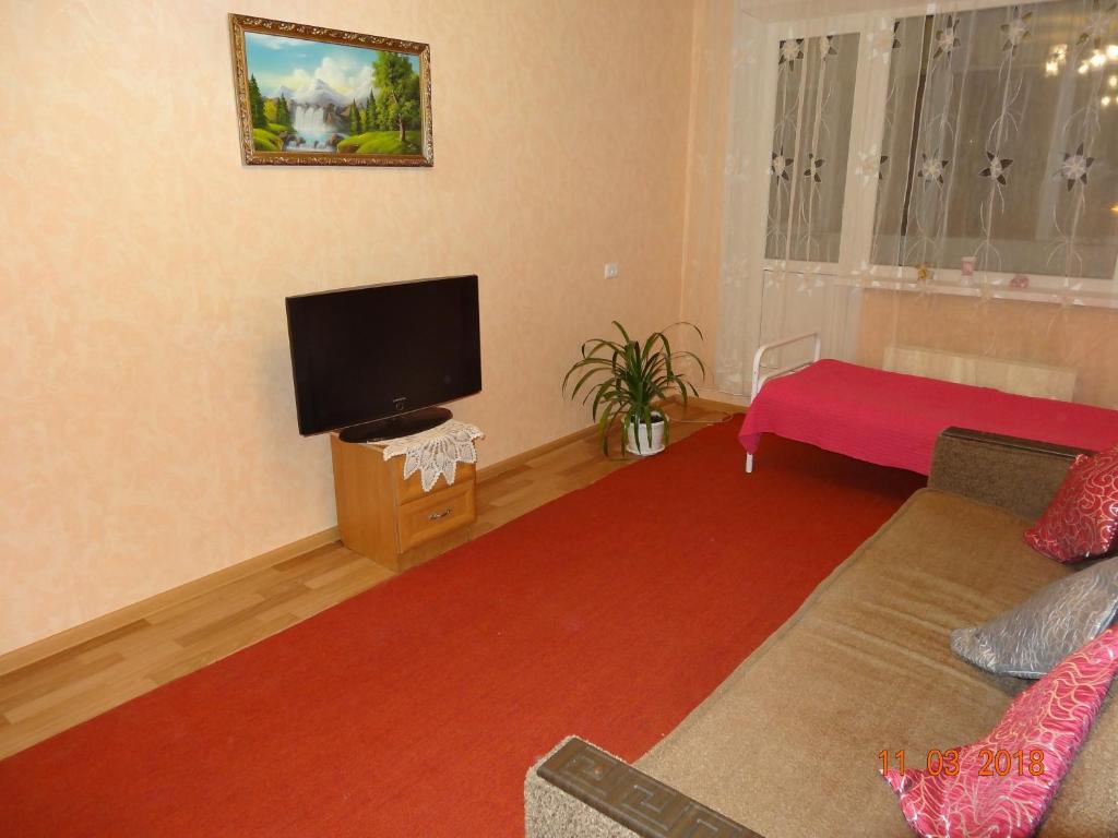 Телевизор и/или развлекательный центр в Apartment on Rina