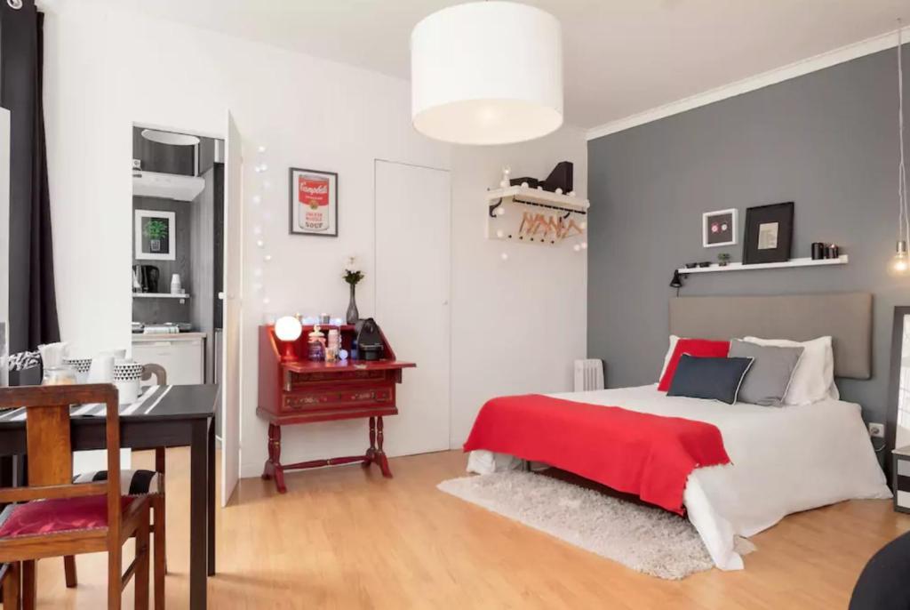 Vuode tai vuoteita majoituspaikassa Porta 33 Porto Apartments