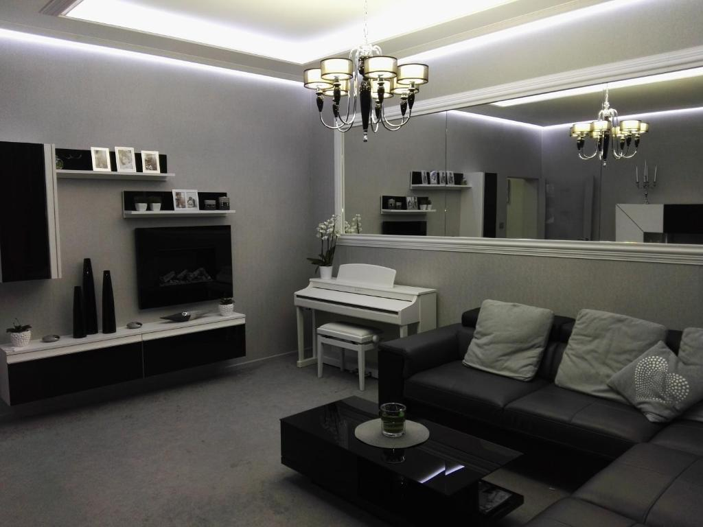 Coin salon dans l'établissement Apartment Villa Ksenija