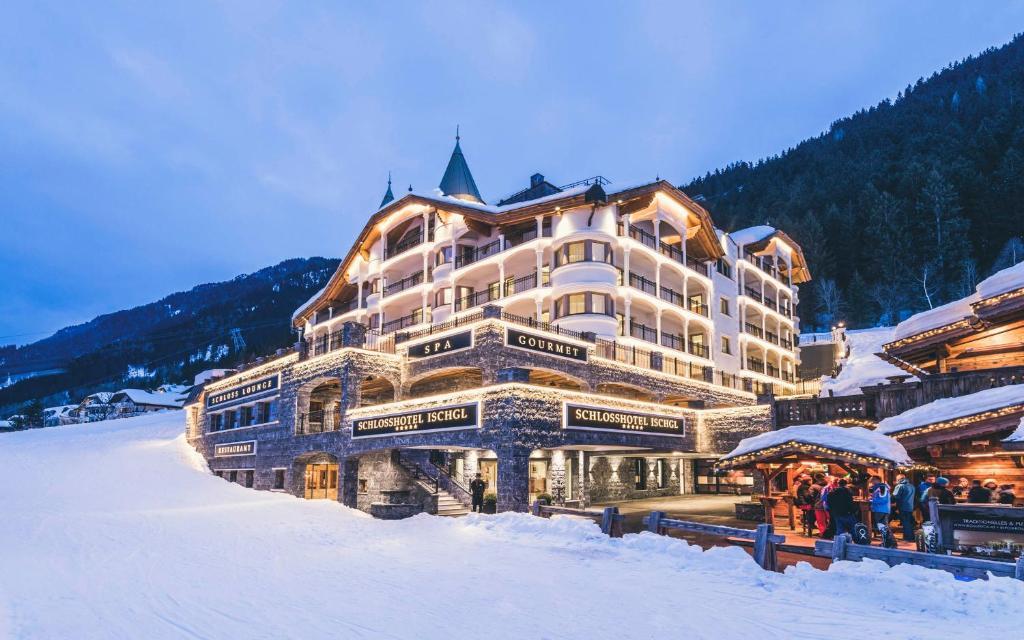 Schlosshotel Ischgl during the winter
