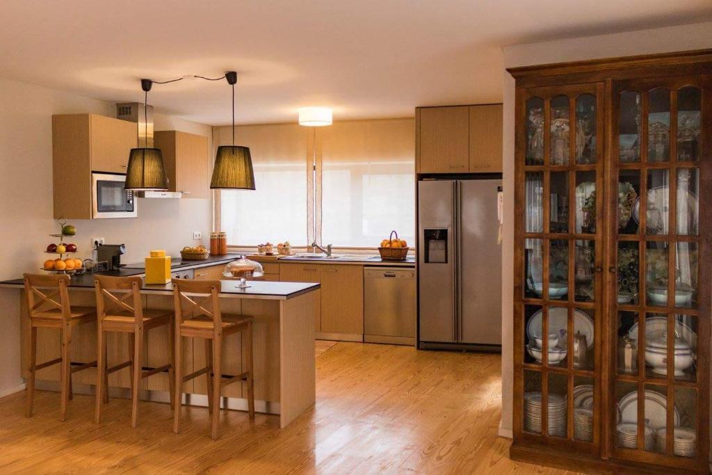 A cozinha ou kitchenette de Quinta de Alvarenga