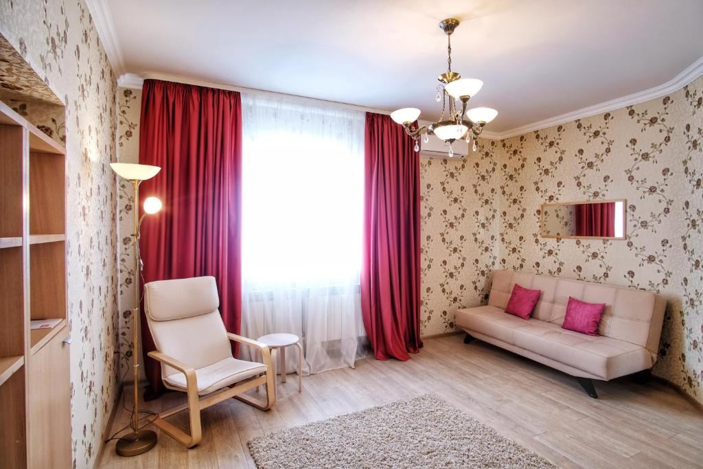 Oleskelutila majoituspaikassa Mini-Hotel ''Granat''