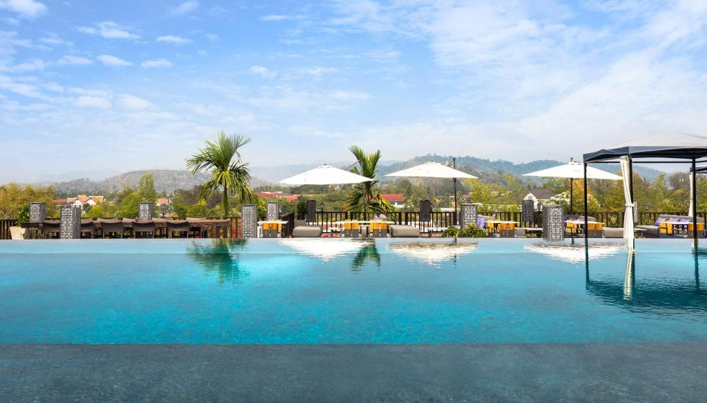 The swimming pool at or close to Kiridara Luang Prabang