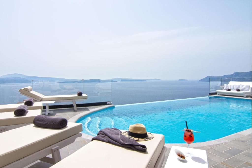 The swimming pool at or near Santorini Secret Suites & Spa, Small Luxury Hotels of the World