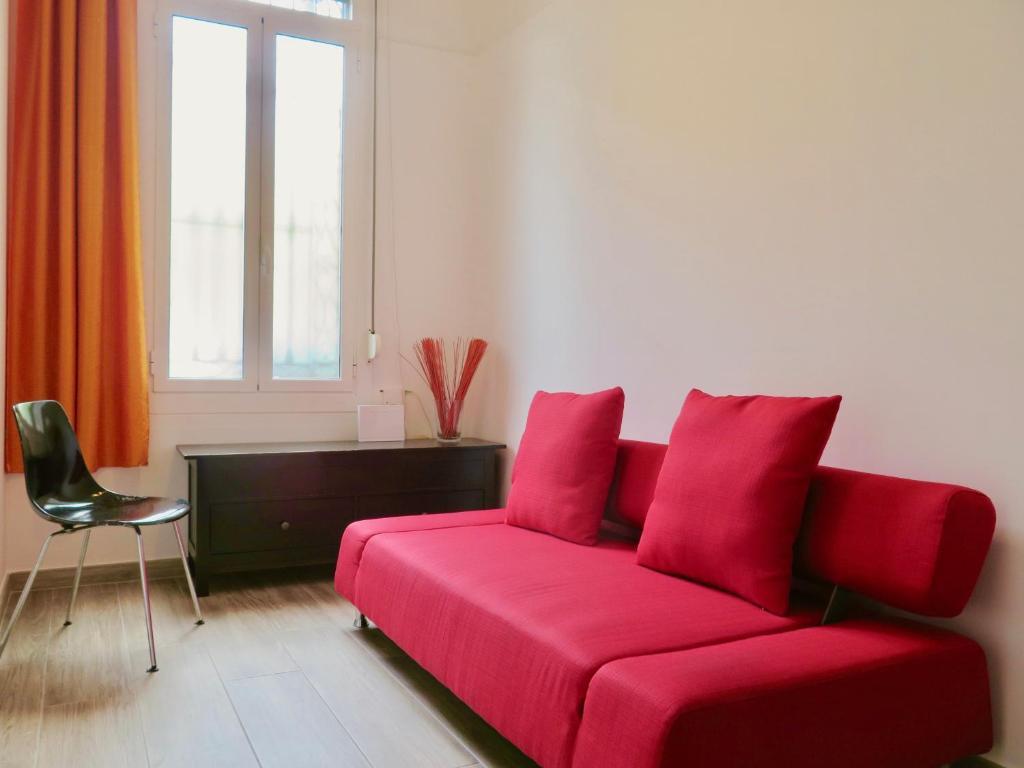 A seating area at Clot MiraBarna Apartments