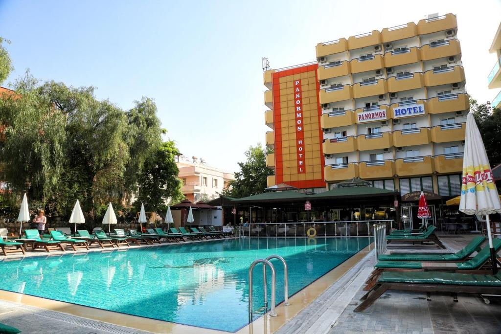 The swimming pool at or near Panormos Hotel