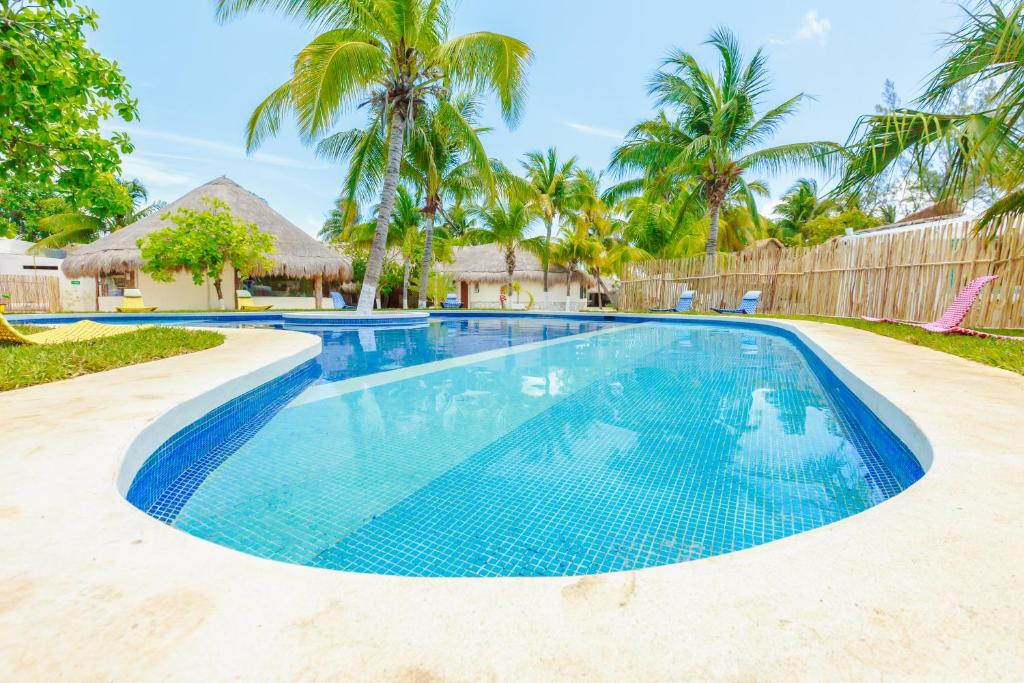 The swimming pool at or near Hotel Paradise Suites