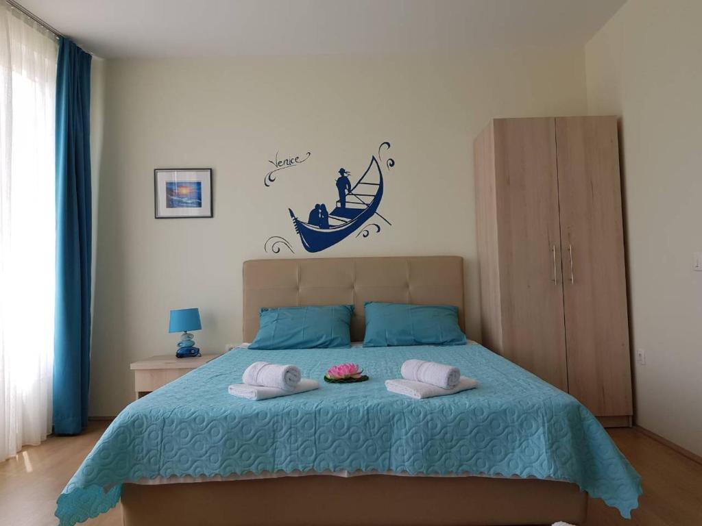 Krevet ili kreveti u jedinici u okviru objekta Apartments LOTUS