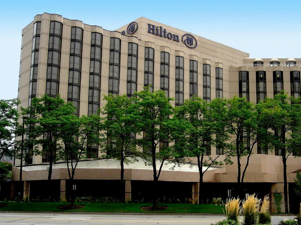 Hotel Hilton Rosemont Chicago OHare IL Bookingcom - Chicago map rosemont