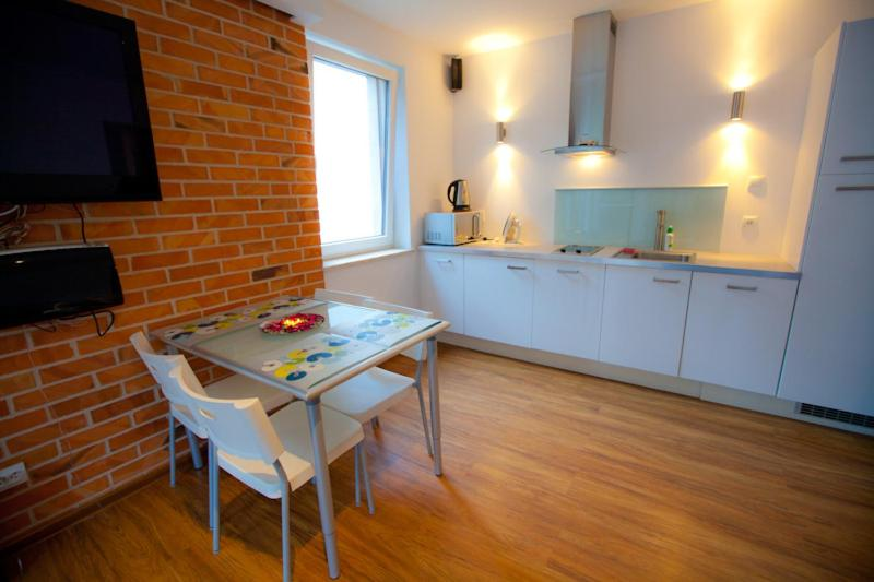 A kitchen or kitchenette at Amber