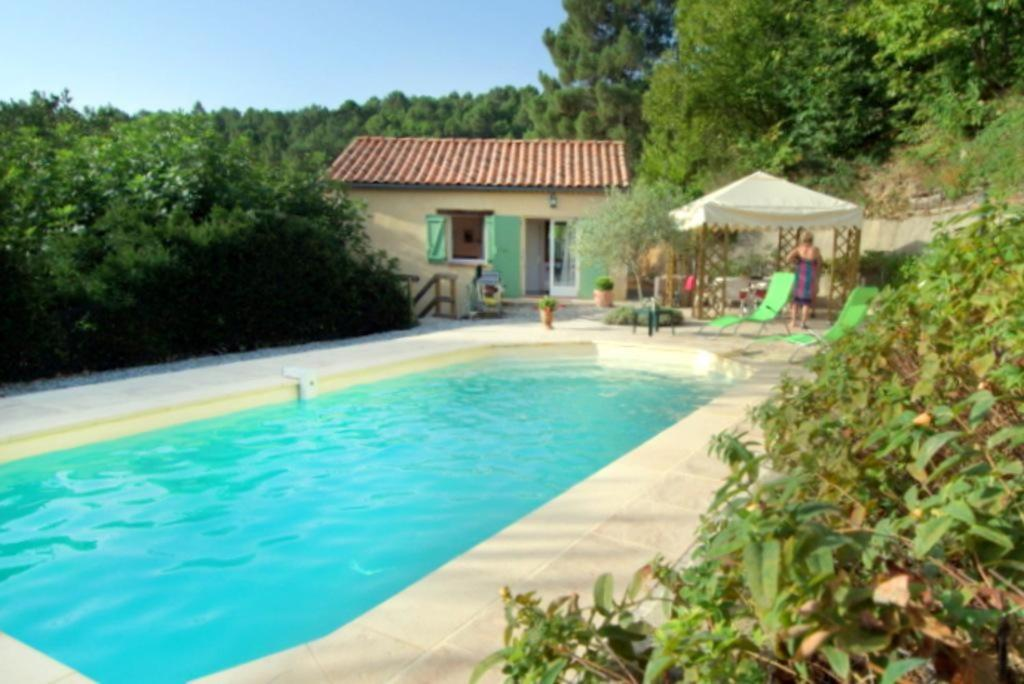 The swimming pool at or near Holiday rental villa private pool in the heart of the Cevennes - Gard - South of France
