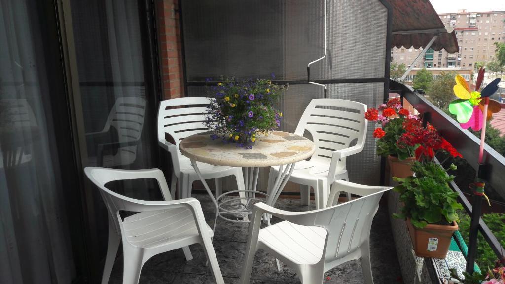 A balcony or terrace at Bienvenidos