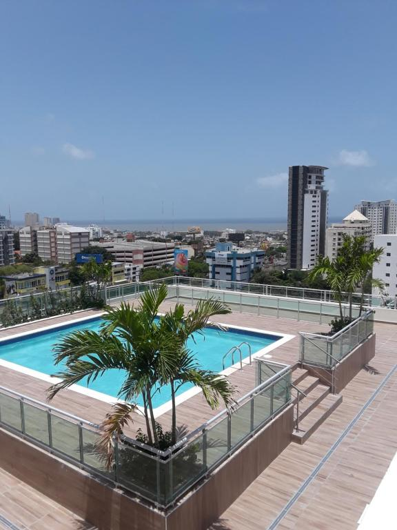 A view of the pool at Villa Palmera XVIII or nearby