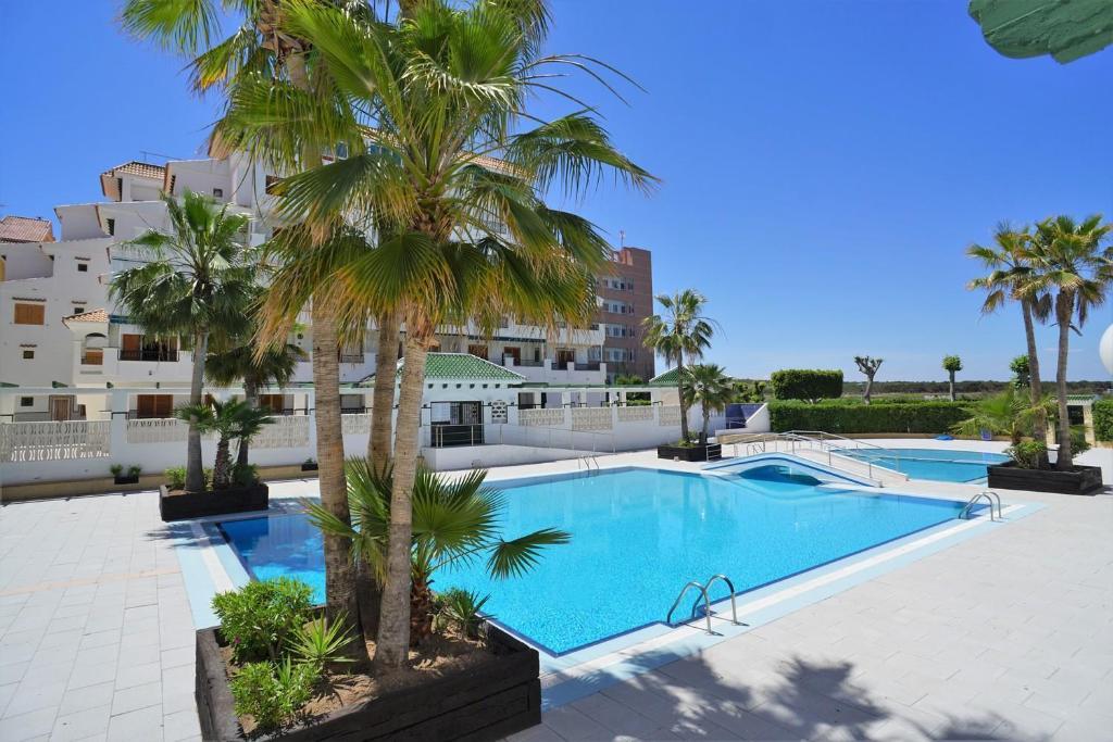 Apartment Vinamar La Mata tesisinde veya buraya yakın yüzme havuzu