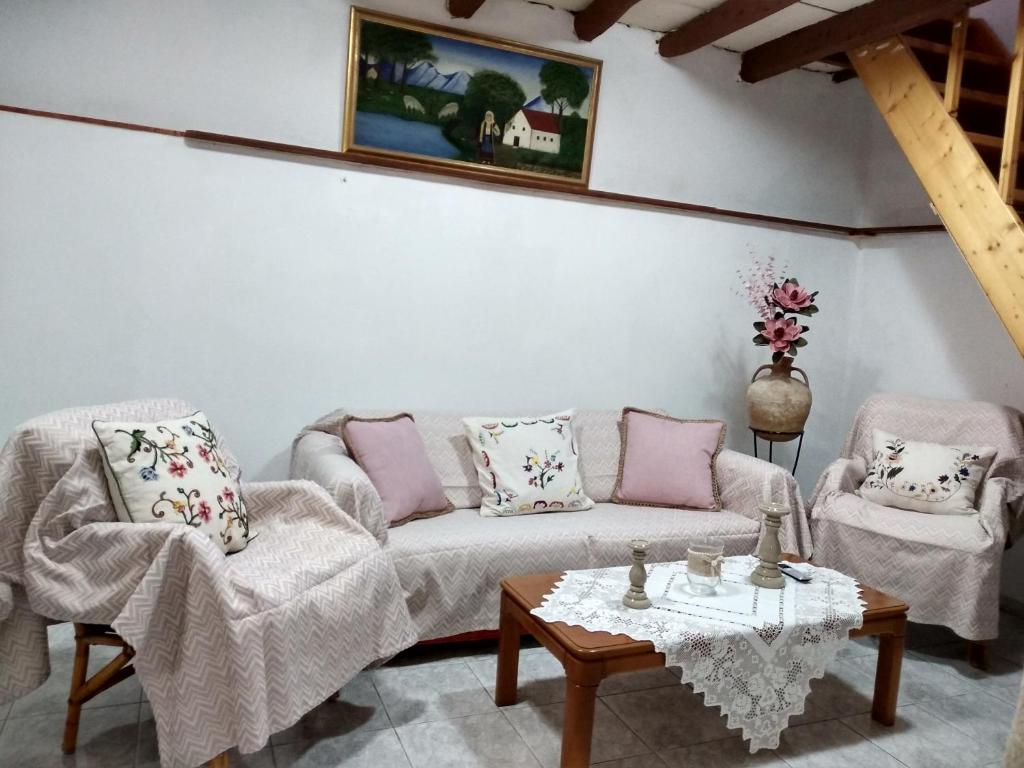 A seating area at Marilena's House