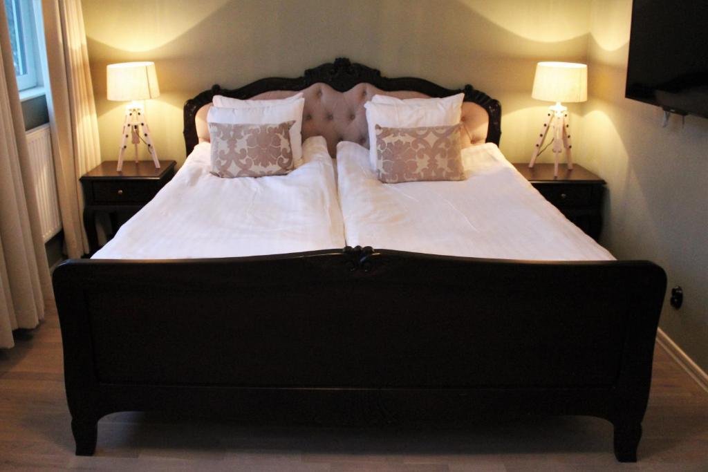 Säng eller sängar i ett rum på Crew Hotel Arlanda