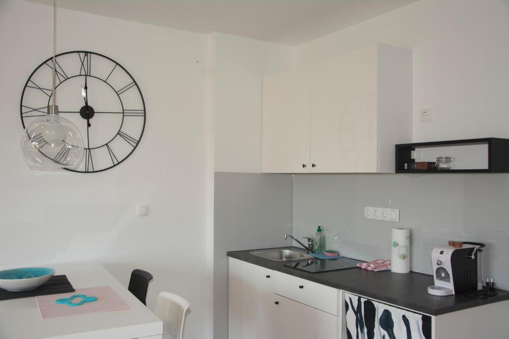 Kuhinja oz. manjša kuhinja v nastanitvi Studio Apartment No.37