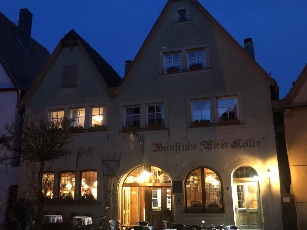 Hotel restaurant alter keller duitsland rothenburg ob der tauber
