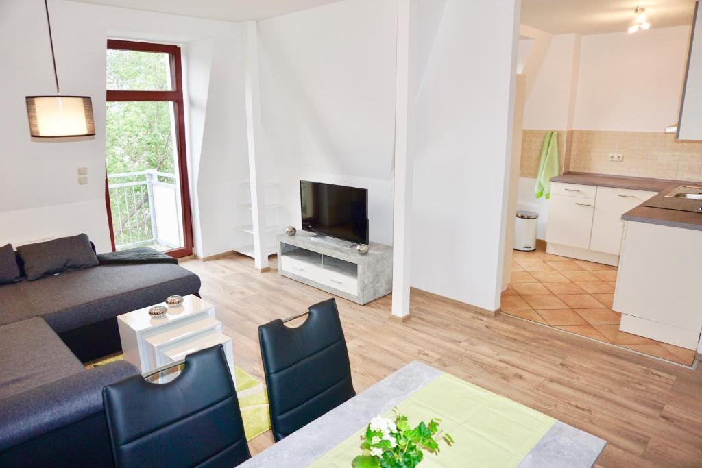 TV/Unterhaltungsangebot in der Unterkunft Manitius 9, DD-Friedrichstadt (Zentrumsnah)