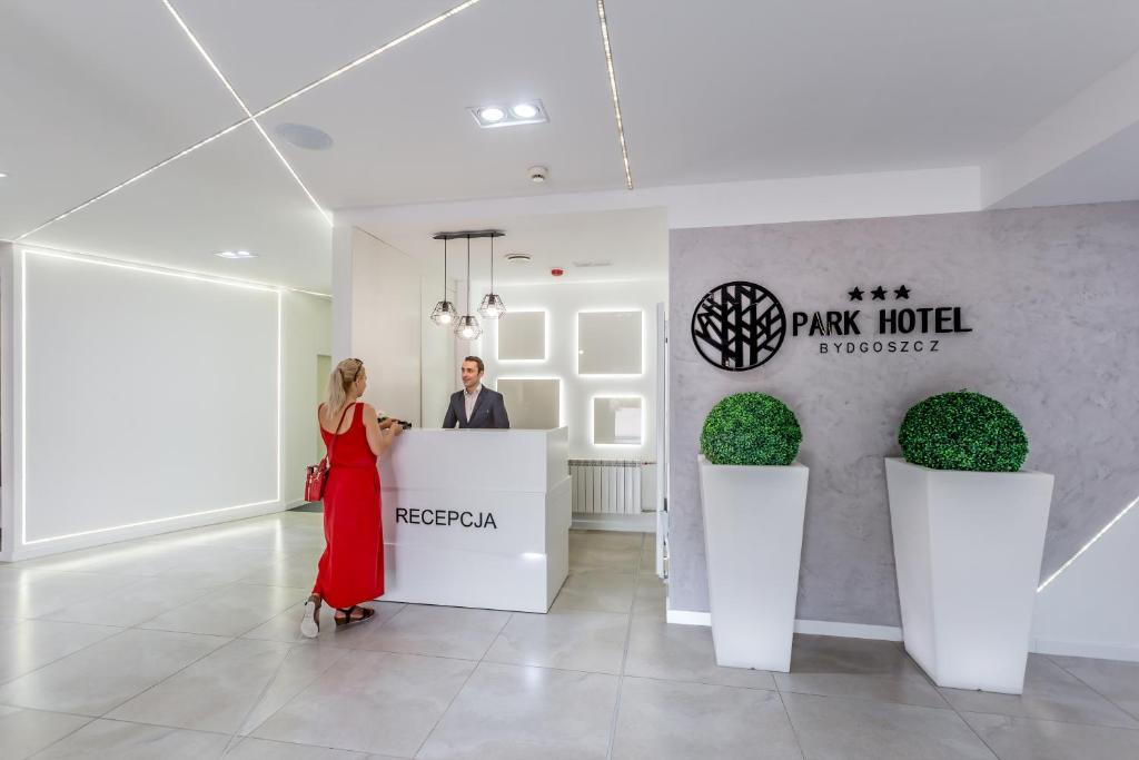 The lobby or reception area at Park Hotel Bydgoszcz