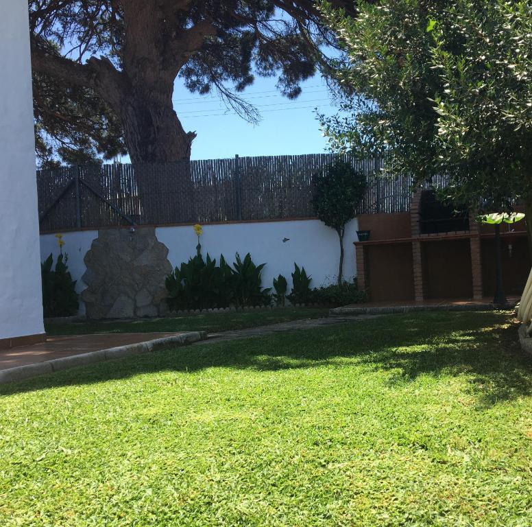 Jardín al aire libre en Villa Gallardo