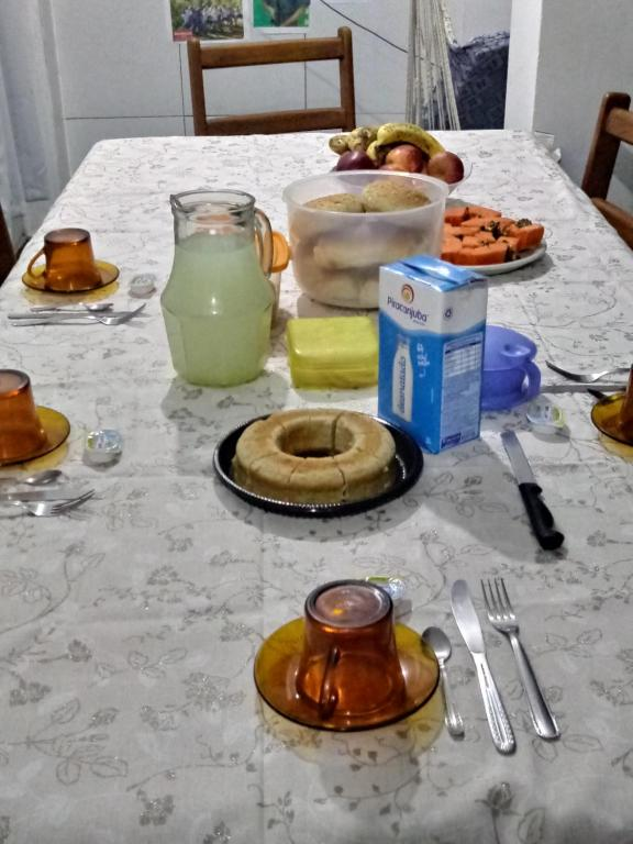 Breakfast options available to guests at Residencia Hostel