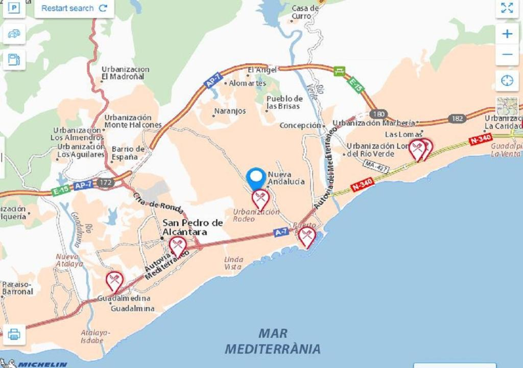 Marbella Map Of Spain.Apartment The Ivy Penthouse Marbella Spain Booking Com