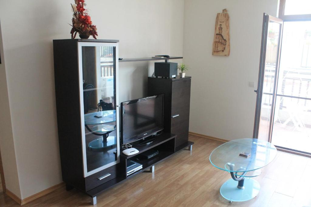 A Television And Or Entertainment Center At Vineyards Apartments