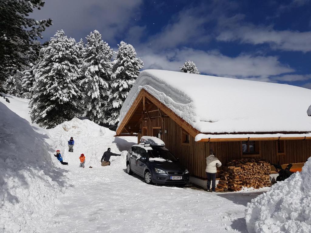 Wildererhütte Chalet Helmut during the winter
