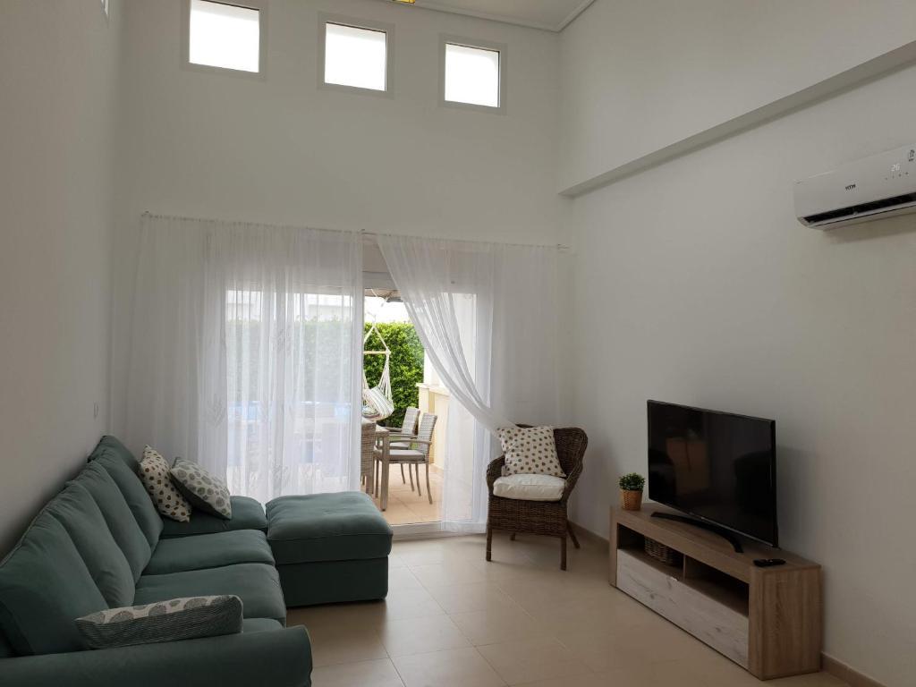 A seating area at Casa Sofia