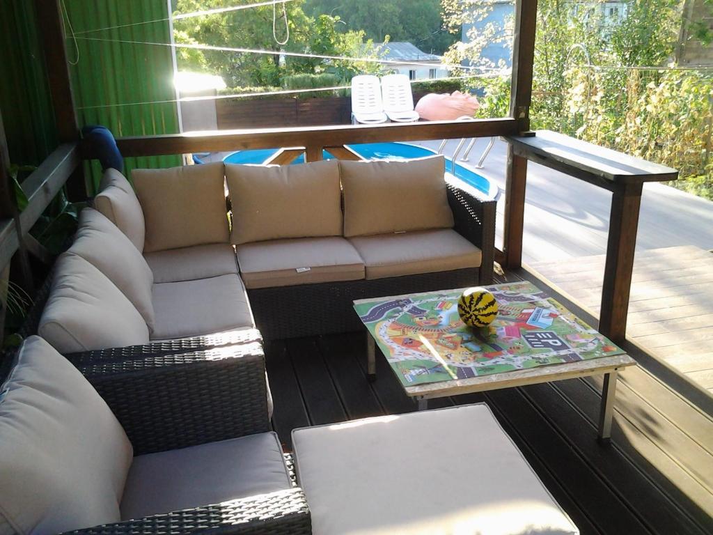 Гостиная зона в Guest House Kunaki