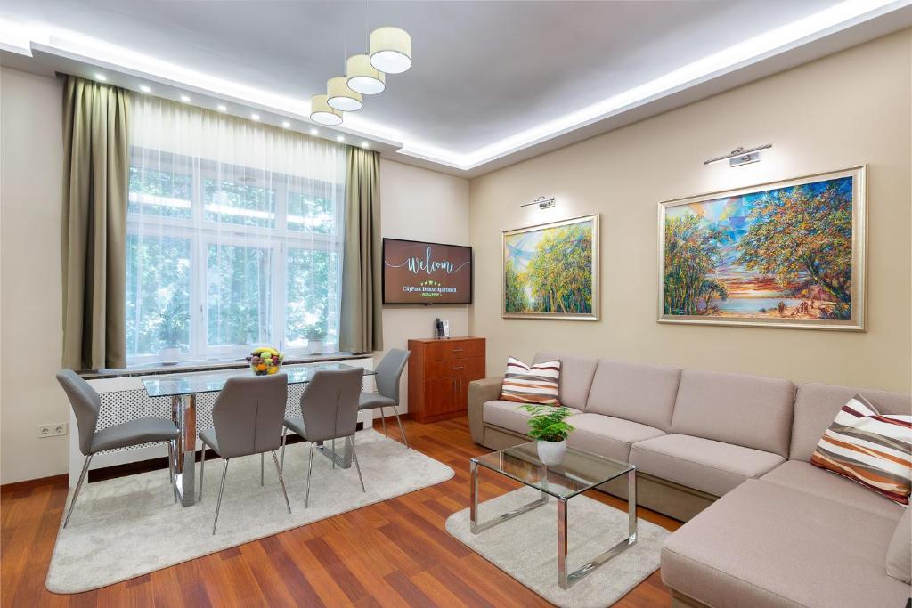 Część wypoczynkowa w obiekcie CityPark Deluxe Apartment