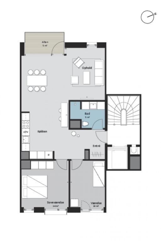 Two Bedroom Apartment In Copenhagen Nordre Teglkaj 44 Denmark