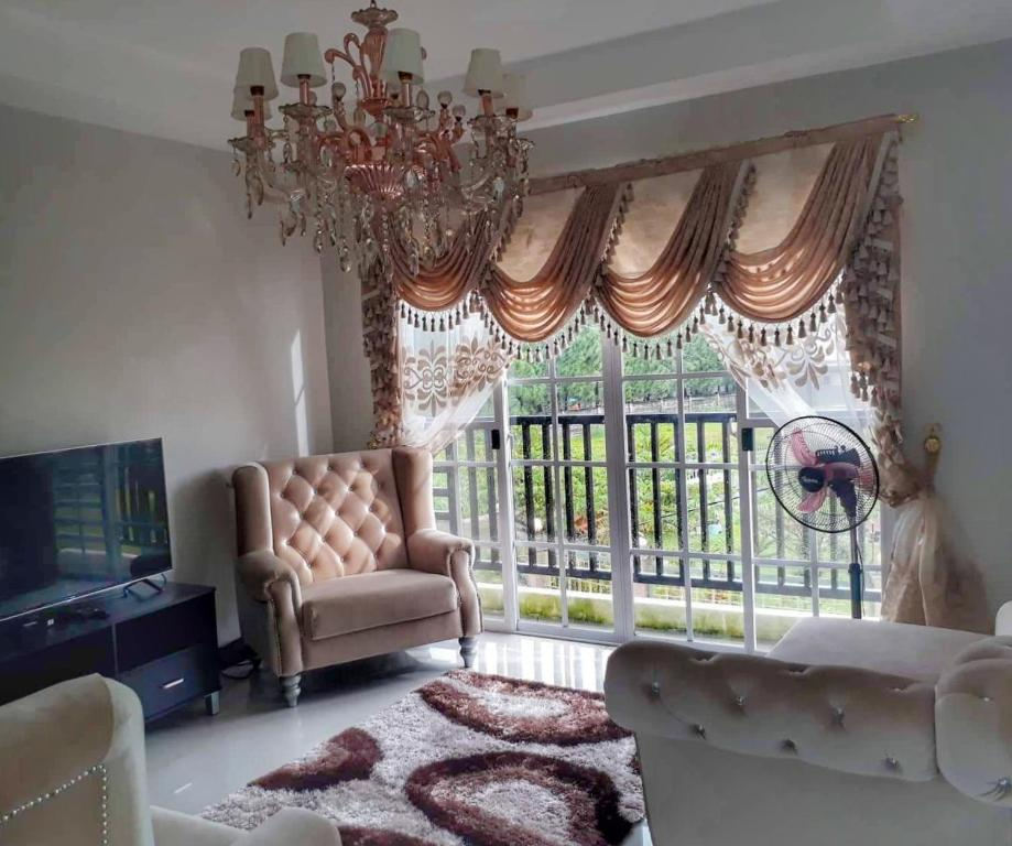 A seating area at Bacolod House of Chandeliers