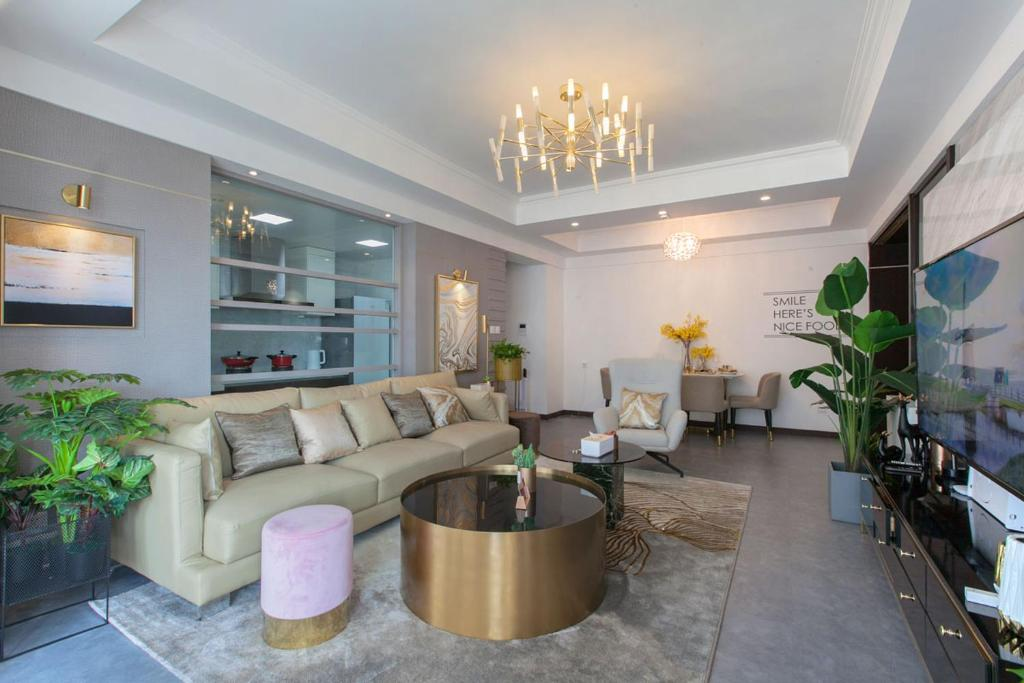 The lobby or reception area at Wuhan Jianghan·Zhongshan Park· Locals Apartment 00157640