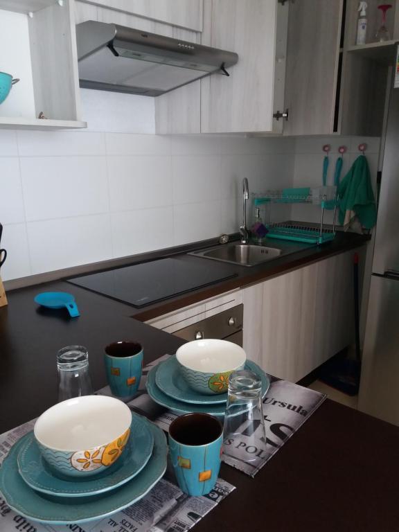 Una cocina o zona de cocina en Depto La Serena Playa
