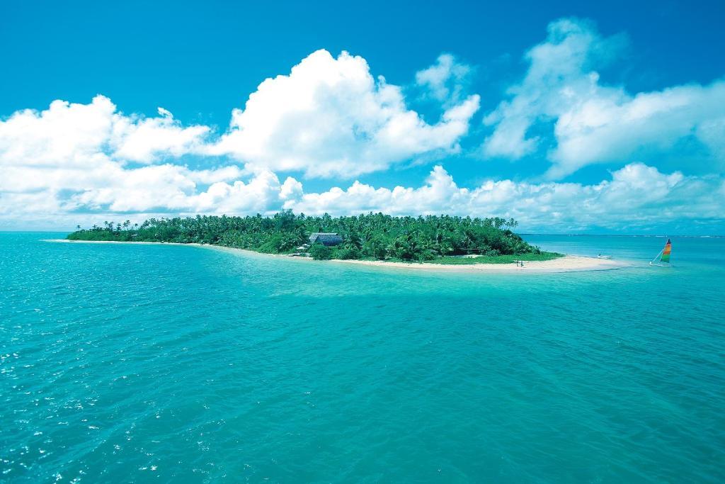 A bird's-eye view of Fafa Island Resort