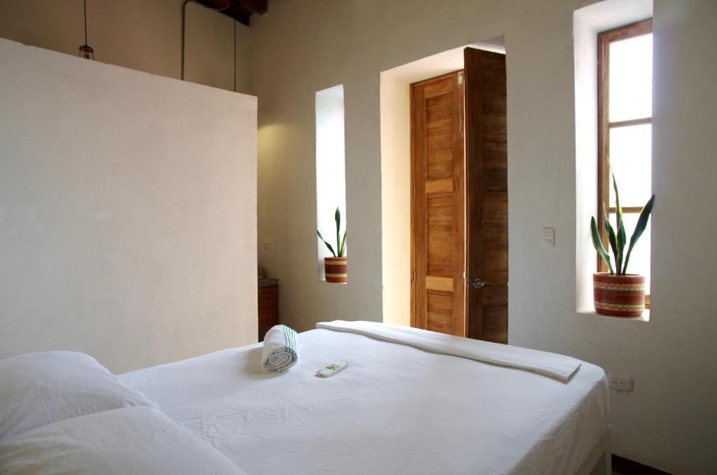 Cama o camas de una habitación en Tunido