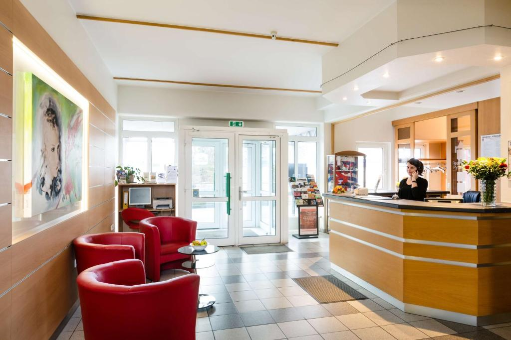 The lobby or reception area at Best Western Euro Hotel Gonderange