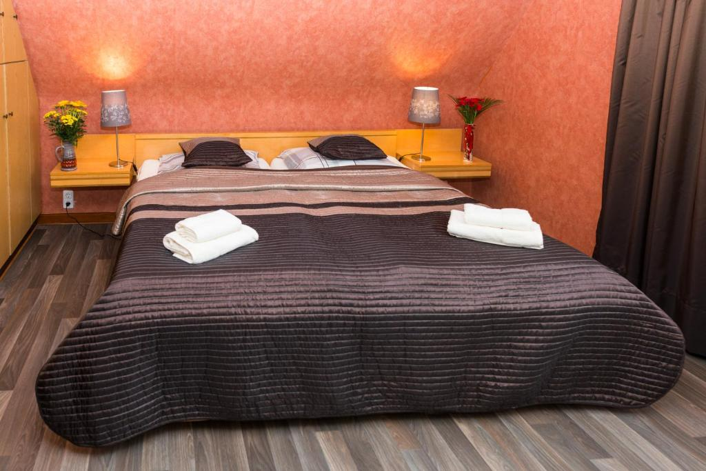 A bed or beds in a room at Ferienwohnung Sonnek