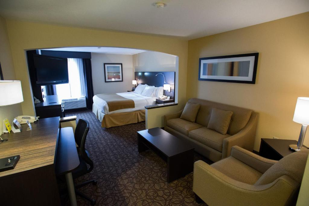 A seating area at Holiday Inn Express Hotels & Suites Topeka West