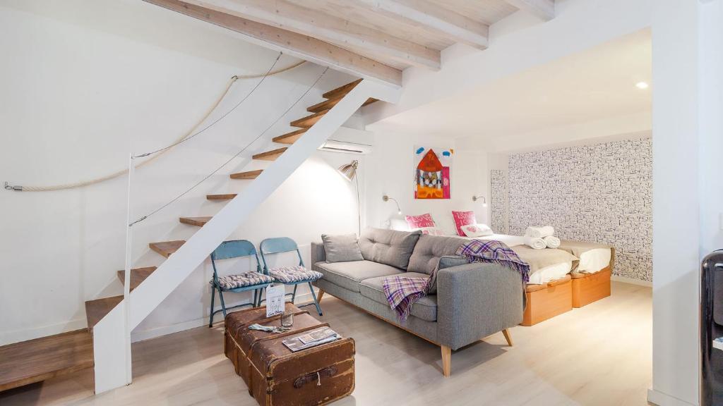 A seating area at Can Blau Homes Turismo de Interior