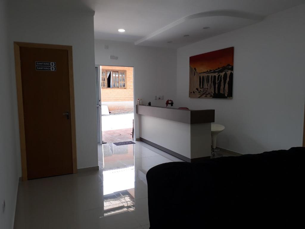 The lobby or reception area at Pousada Clara Iguassu