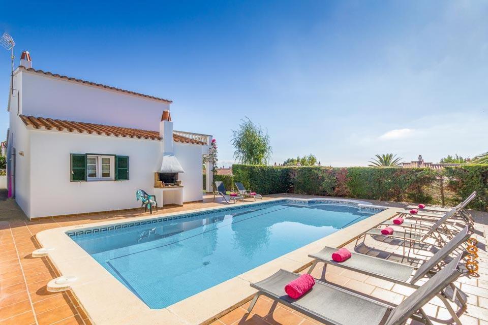 The swimming pool at or near Torre Soli Nou Villa Sleeps 10 Pool Air Con WiFi