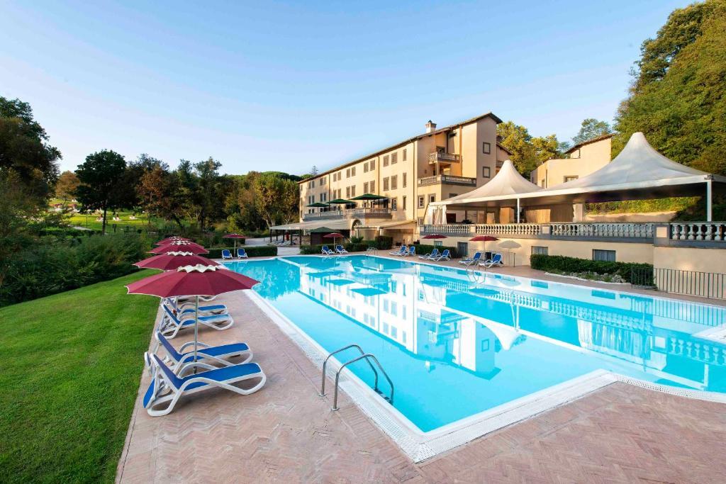 The swimming pool at or near Grand Hotel Terme di Stigliano